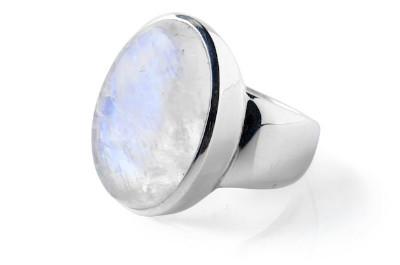 Ring Rainbow Moonstone